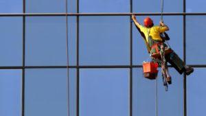 Промышленный альпинизм для мытья фасадов